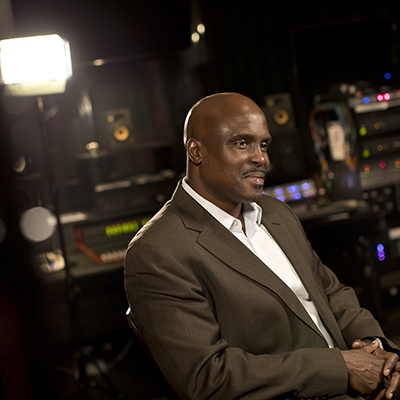 Solomon Jones sitting in a studio